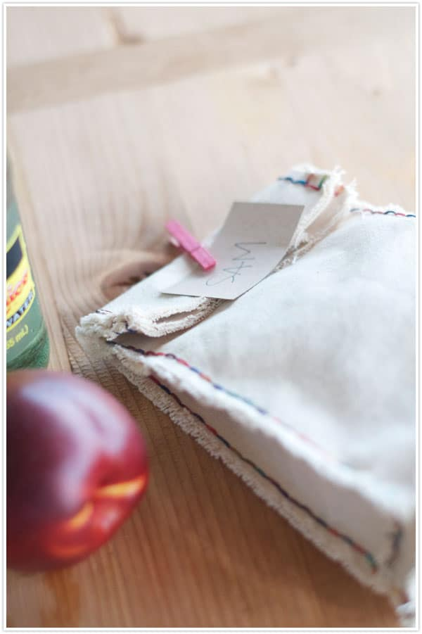 """""""Old School"""" Lunch Bag Made with Canvas"""