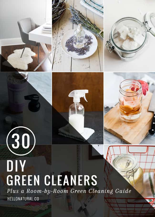 30 DIY Green Cleaners | HelloGlow.co