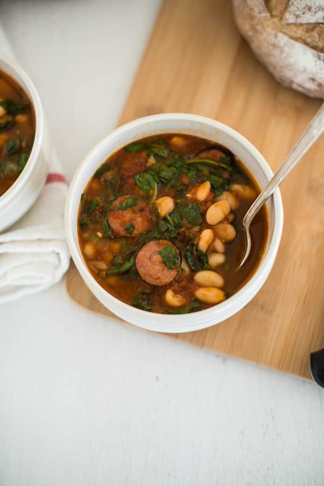 Quick and Easy Bean Sausage Soup-3