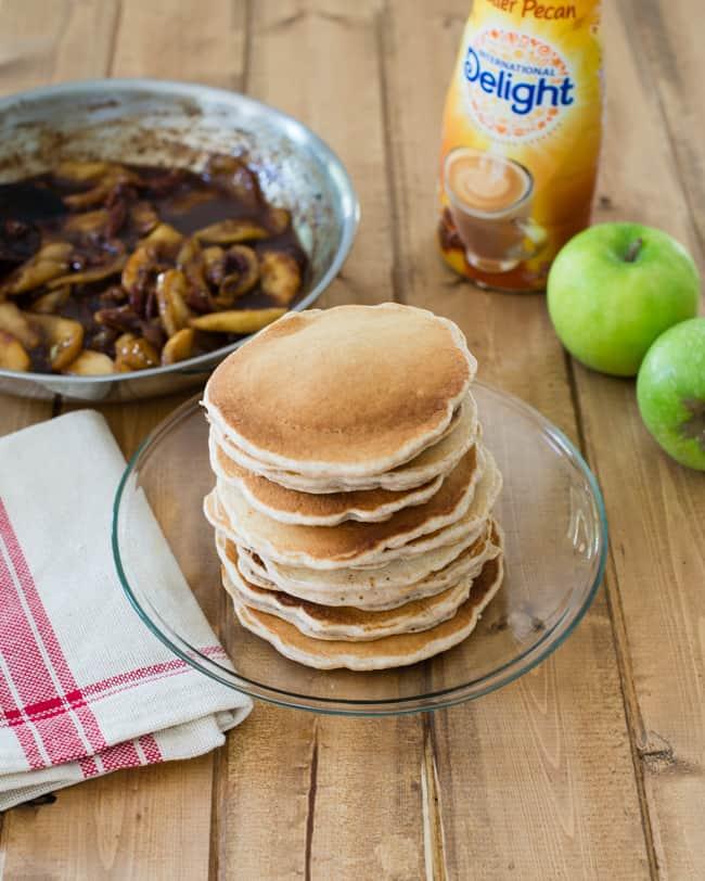 Apple Butter Pecan Pancakes | HelloGlow.co