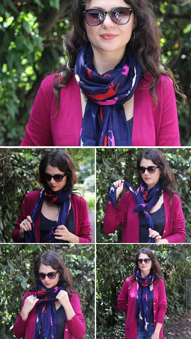 13 stylish ways to tie a scarf | HelloGlow.co