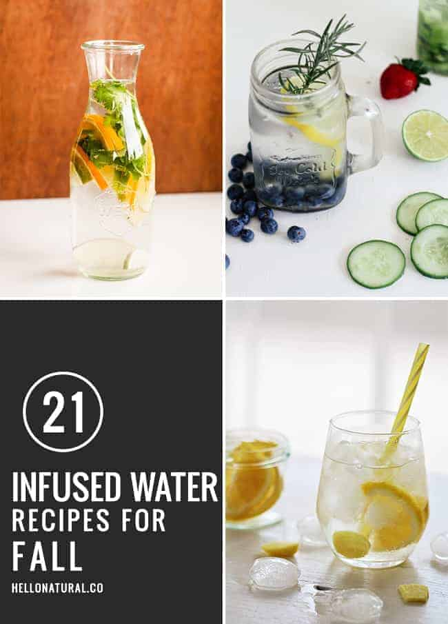 21 Infused Water Recipe for Fall | HelloGlow.co