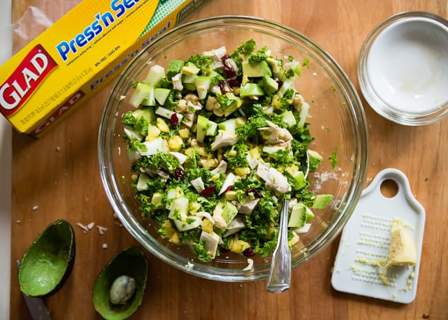 Chopped Kale Salad with Leftover Turkey | 101 Healthy Lunches