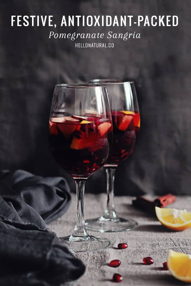 Antioxidant-Packed Pomegranate Sangria   HelloGlow.co