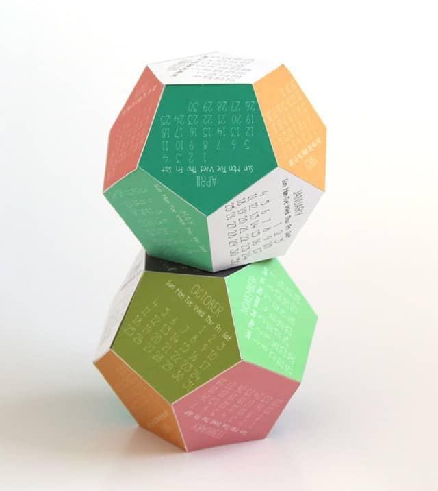 3D 2015 Calendar