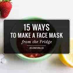 15 Ways To Make a Face Mask from the Fridge
