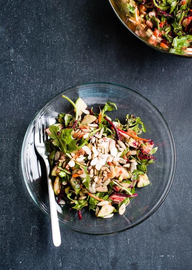 Glowing skin salad + detox dressing