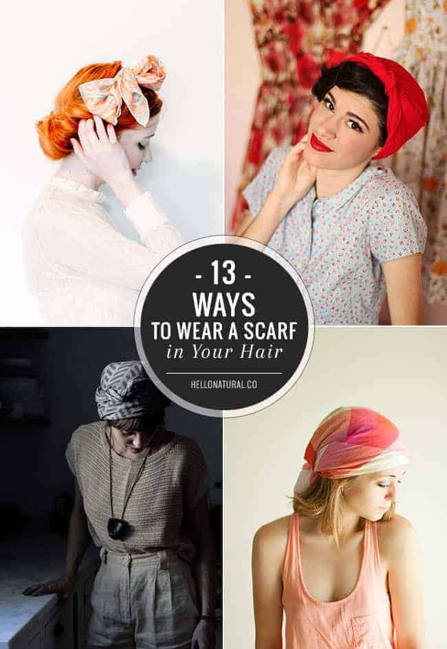 13 Chic Ways To Wear A Scarf In Your Hair