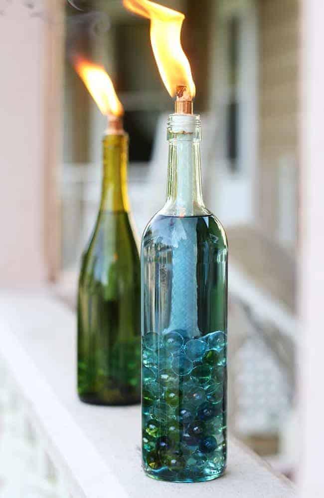 Diy Wine Bottle Citronella Candles Hello Glow Bloglovin