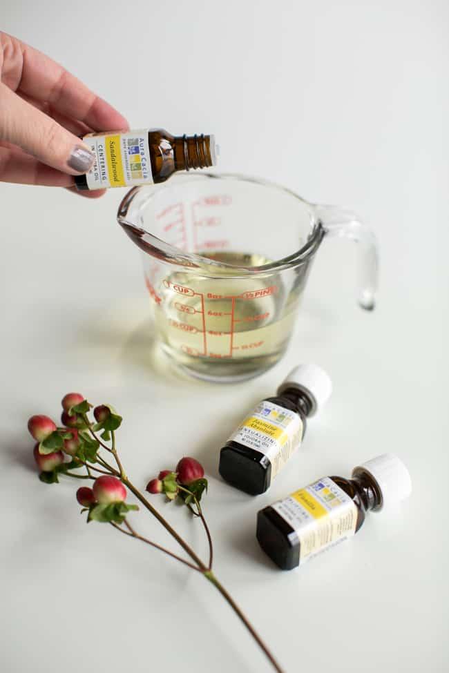 DIY Massage Oil + 6 Essential Oil Blends + Uses