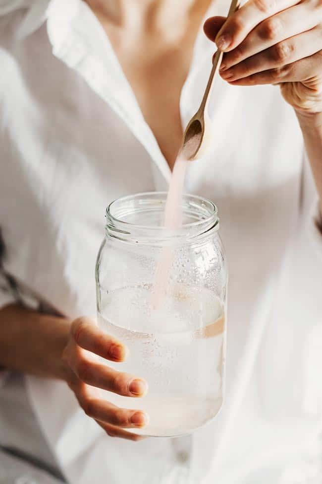 Detox Bath Soak + Homemade Electrolyte Drink with Pink Sea Salt