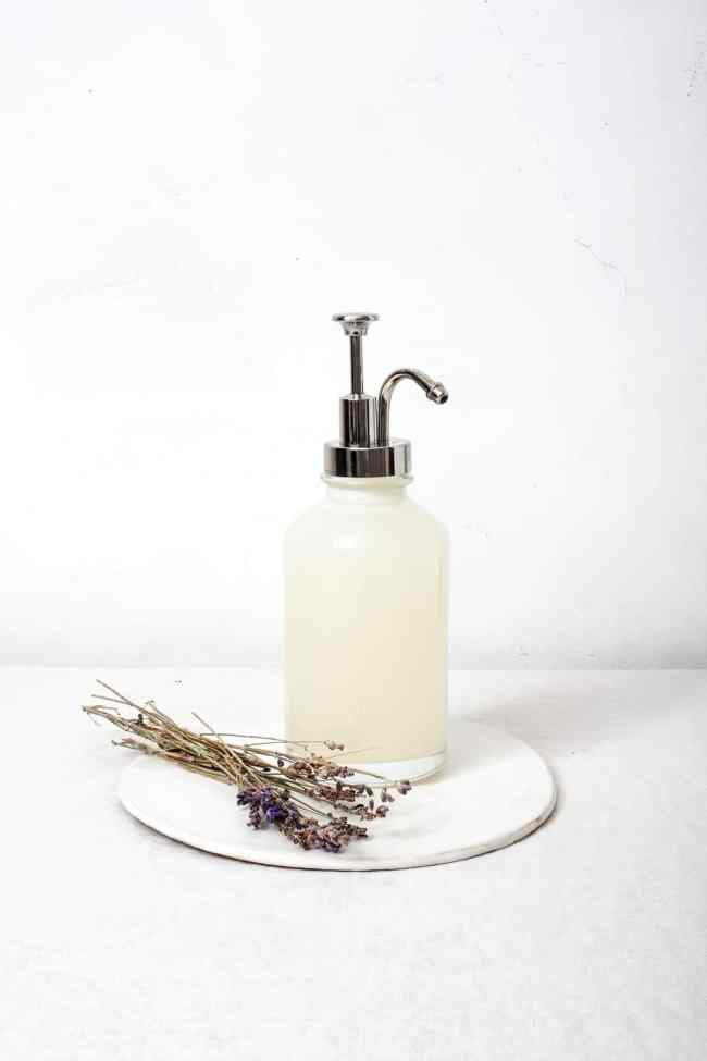 Lavendar-Infused Homemade Liquid Hand Soap