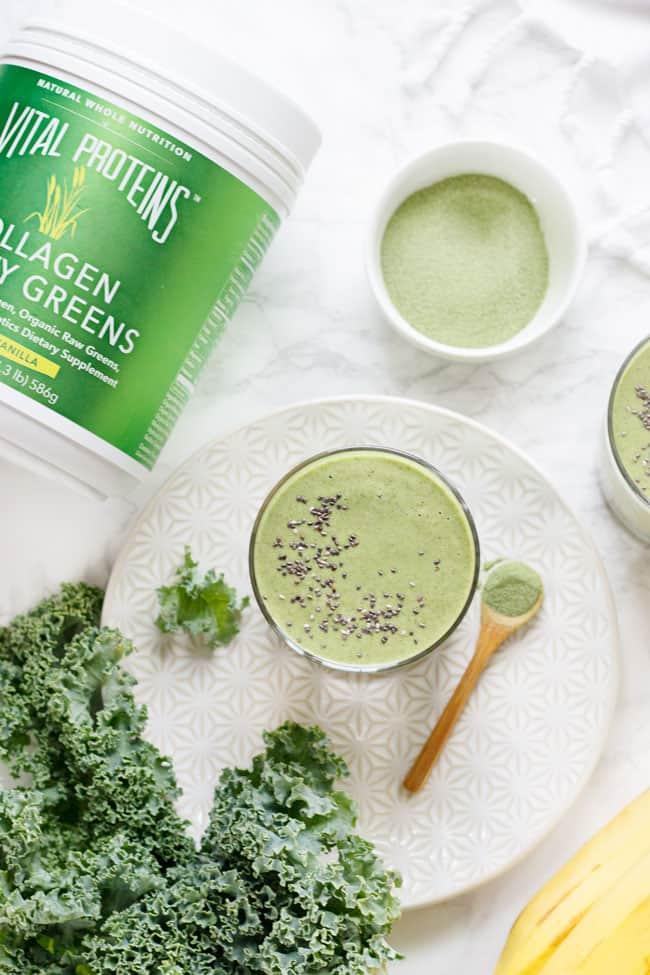 Green Collagen Smoothie Recipe