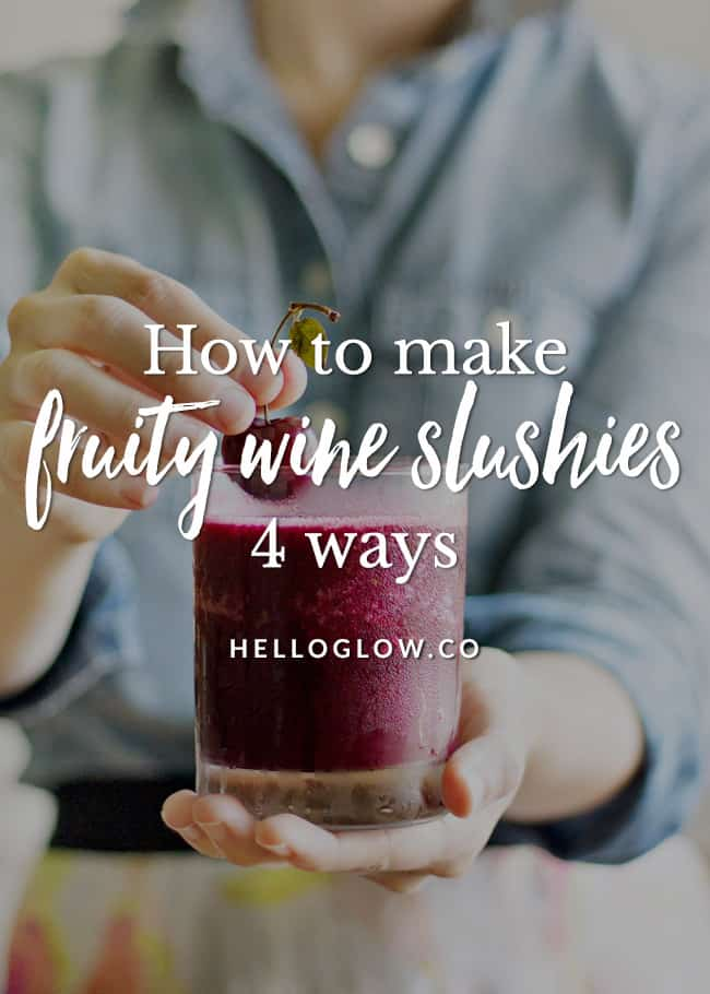 4 Refreshing Wine Slushy Recipes