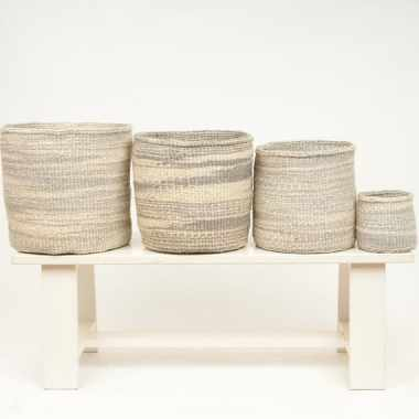 Grey Cloud Storage Baskets