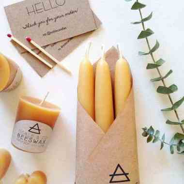 Noble & Co. Beeswax Tapers