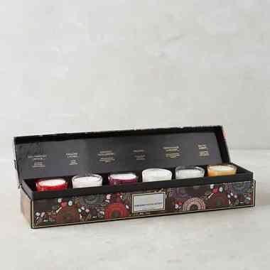 Japonica Embossed Votive Gift Set