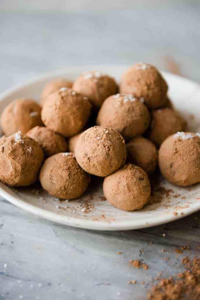 Raw Vegan Sea Salt Caramel Truffles