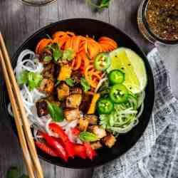 Thai Style Spiralized Veggies with Tofu