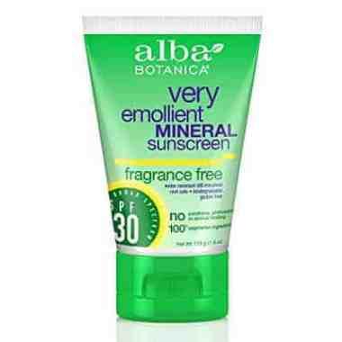 Alba Botanica Very Emollient SPF 30 Mineral Sunscreen