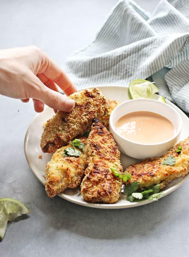 Crispy Almond-Breaded Chicken Tenders