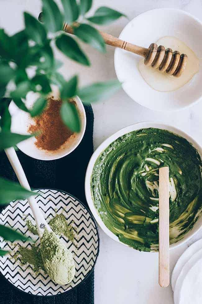 DIY: Matcha Green Tea Face Mask + Salted Cream Body Scrub