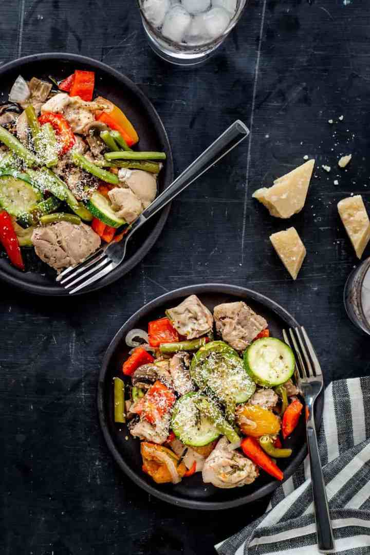 Italian Chicken and Veggie Foil Packets from Easy Keto Dinners