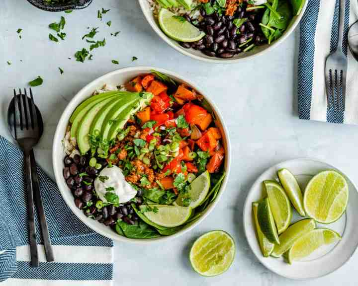 Plant-Based + Protein-Packed Mexican Breakfast Bowls