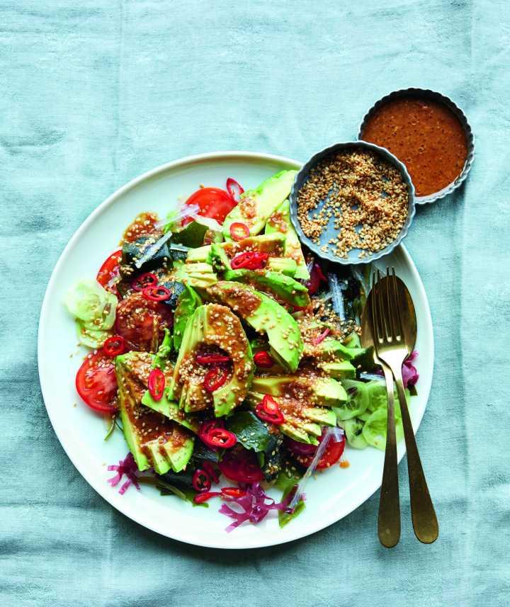 Detoxifying Seaweed Salad with Miso Dressing