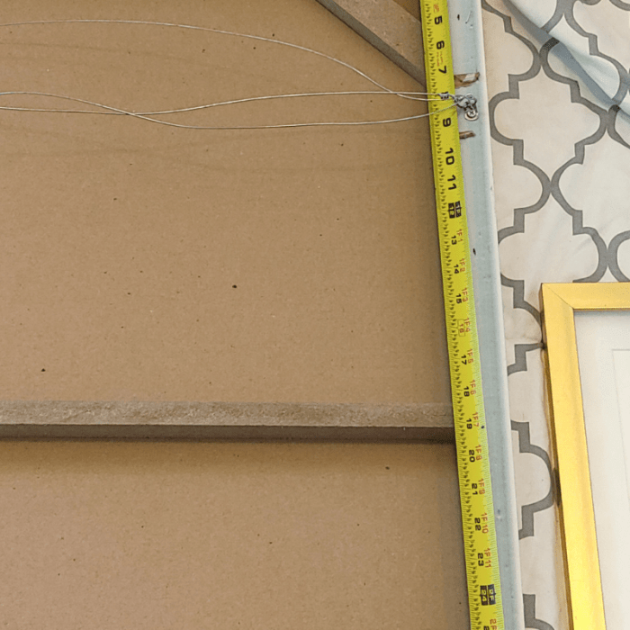 Measuring a picture frame