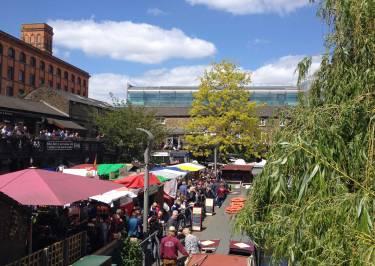 Ausblick über den Camden Market in London