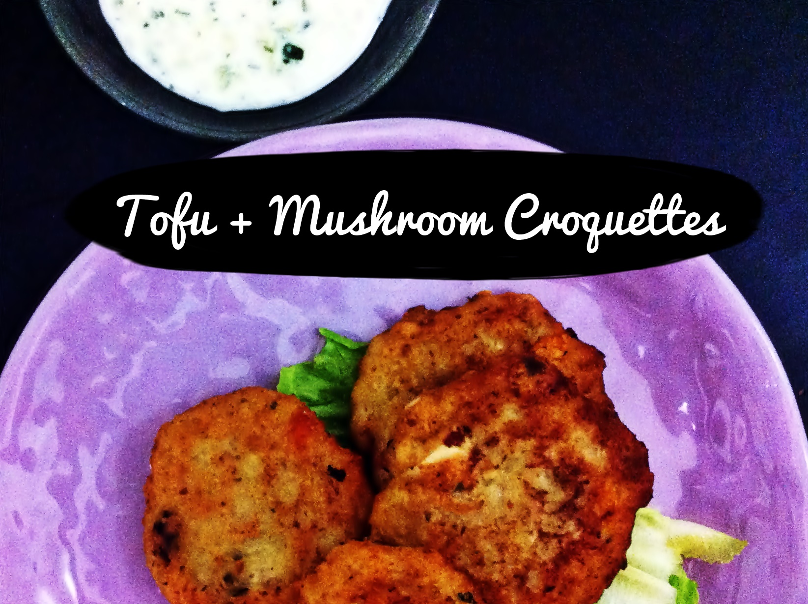 NEW WEBSITE UPDATE + Tofu Mushroom Croquette
