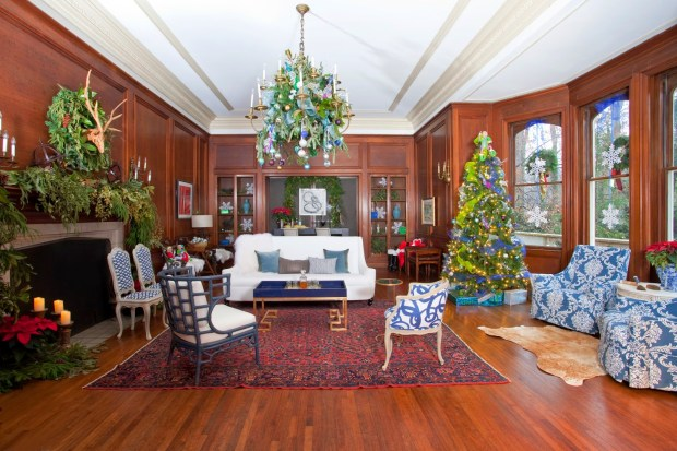 Sophisticated library room for Santa roomsrevamped.com