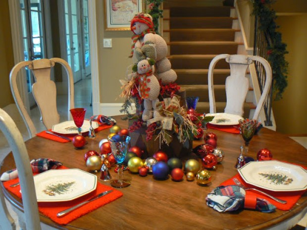 snowmen table setting roomsrevamped.com