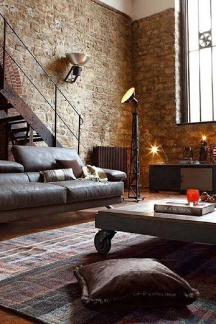 Industrial style Rooms Revamped Interior Design