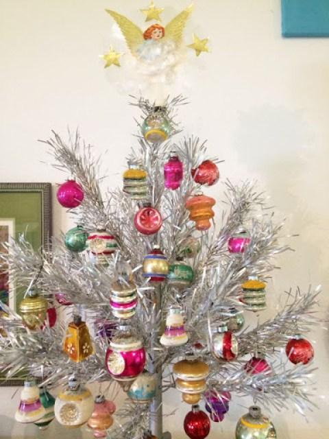 Vintage Aluminium Christmas Tree