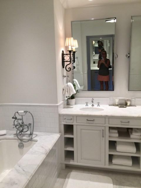 The all white bathroom