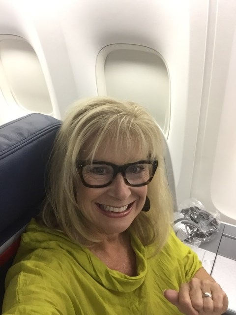 Robin LaMonte in Delta Business one class to Amsterdam