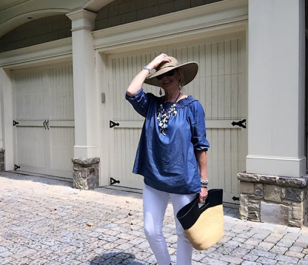 Wearing White after Labor Day Fashion| Fashion over 50| Hello I'm 50ish