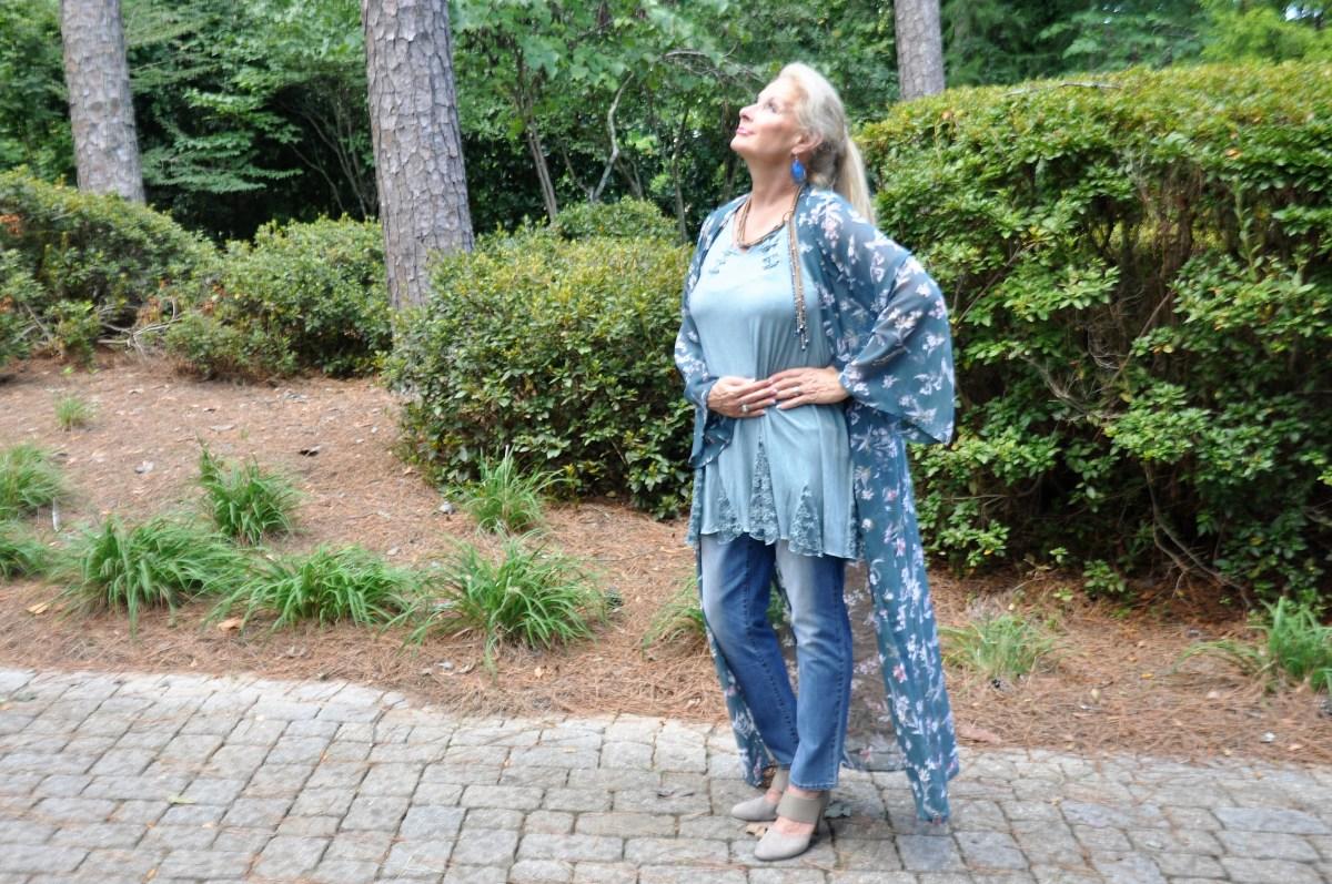 Floral Kimono: Disrupt Aging