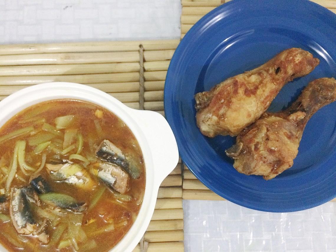 ginisang sayote with sardines