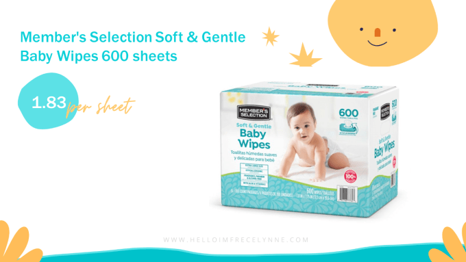 Member's Selection Soft & Gentle Baby Wipes 600 sheets