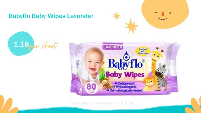 Babyflo Baby Wipes Lavender