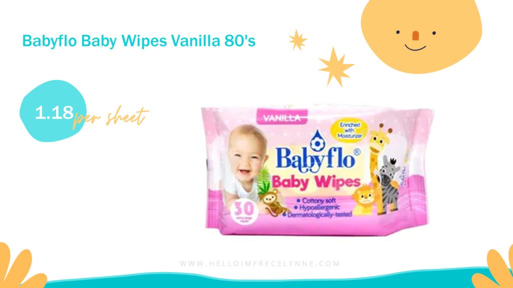 Babyflo Baby Wipes Vanilla 80's