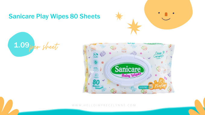 Sanicare Play Wipes 80 Sheets