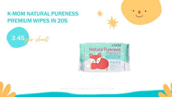 K-MOM Natural Pureness Premium Wipes in 20s