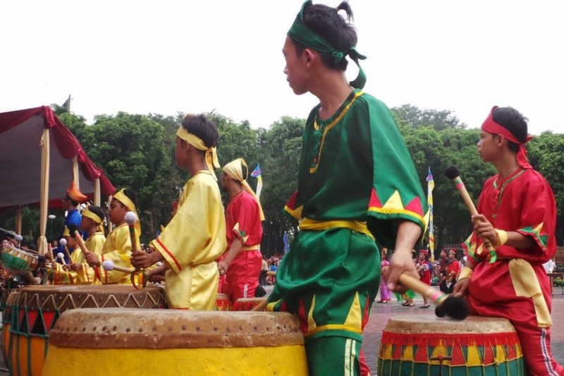 Traditional Bengkulu Drum festival