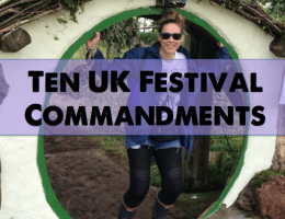 Ten UK Festival Commandments