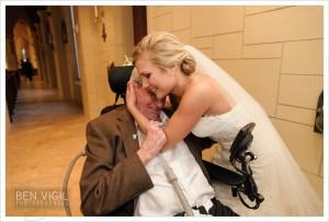 Bride and grandfather