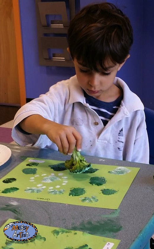 broccoli printing art